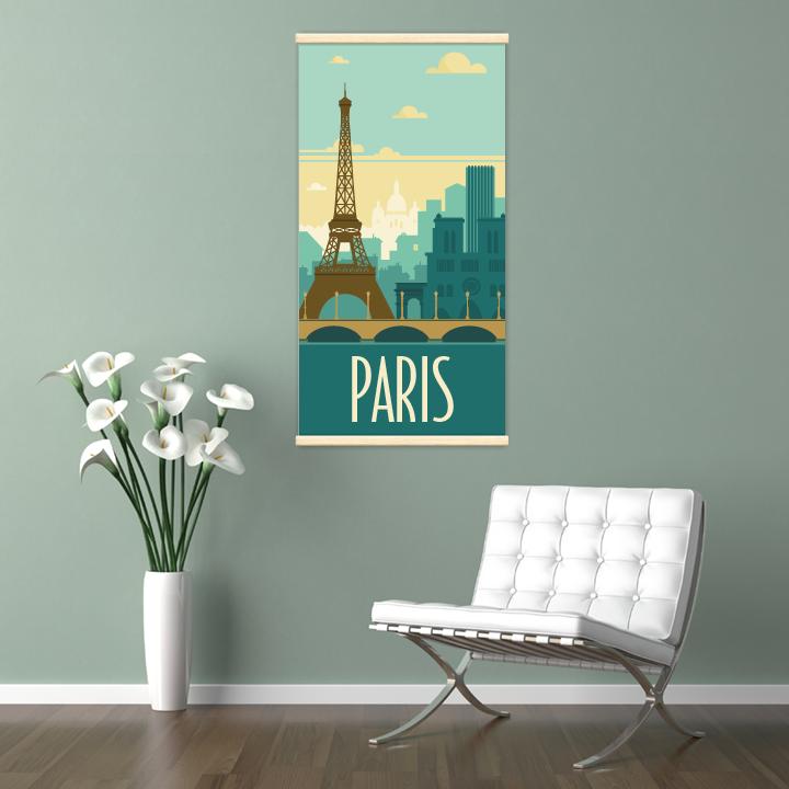 Décoration intérieure avec le kakémono décoratif Paris rétro