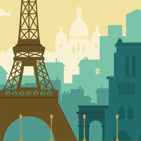 Zoom sur l'illustration Paris rétro