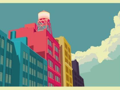 Illustrations de New York de Remko Heemskerk