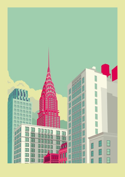 Illustration de New York par Remko Heemskerk