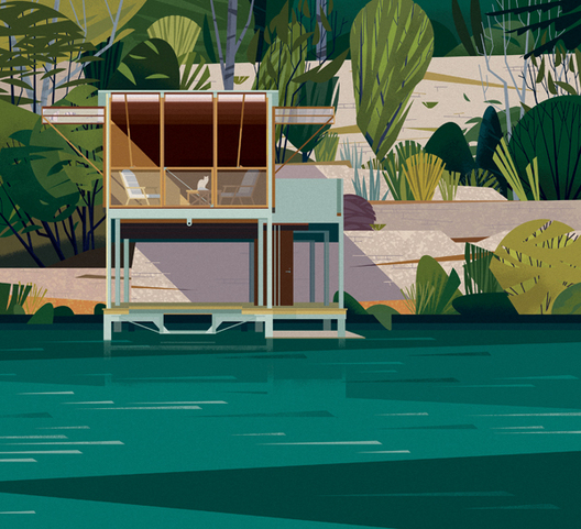 illustration cabane Marie-laure Cruschi