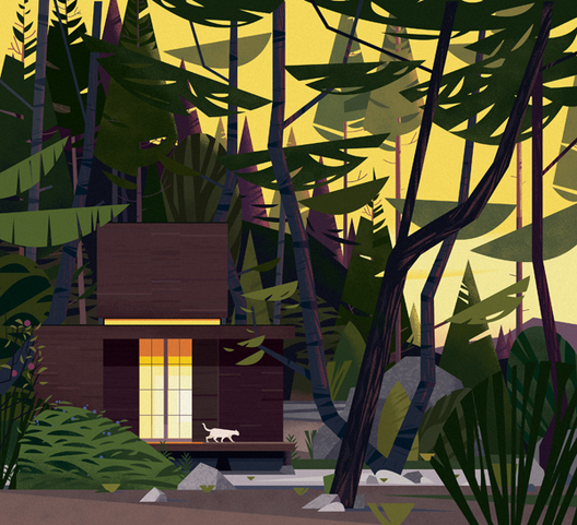 illustration cabane Marie-laure Cruschi