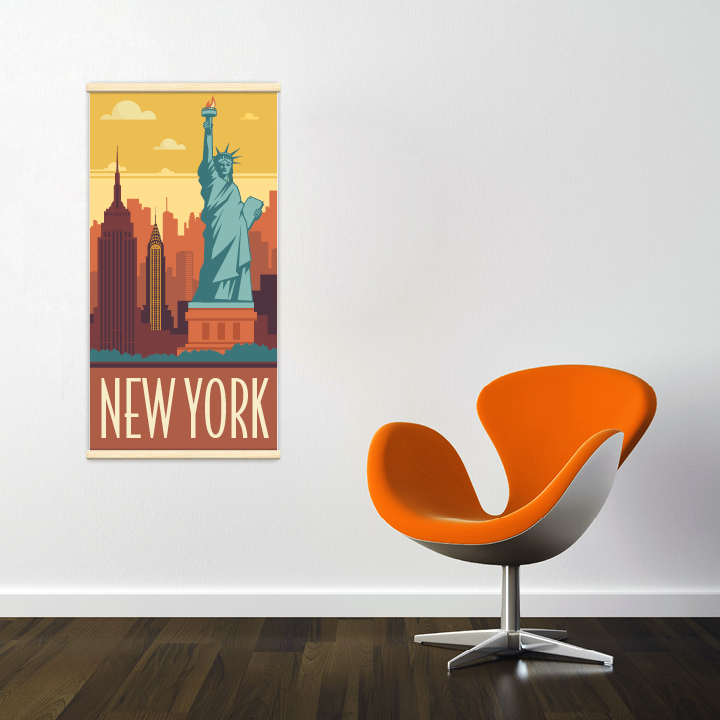 Kak mono new york r tro vente d cor mural kak monod co - Boutique deco new york ...