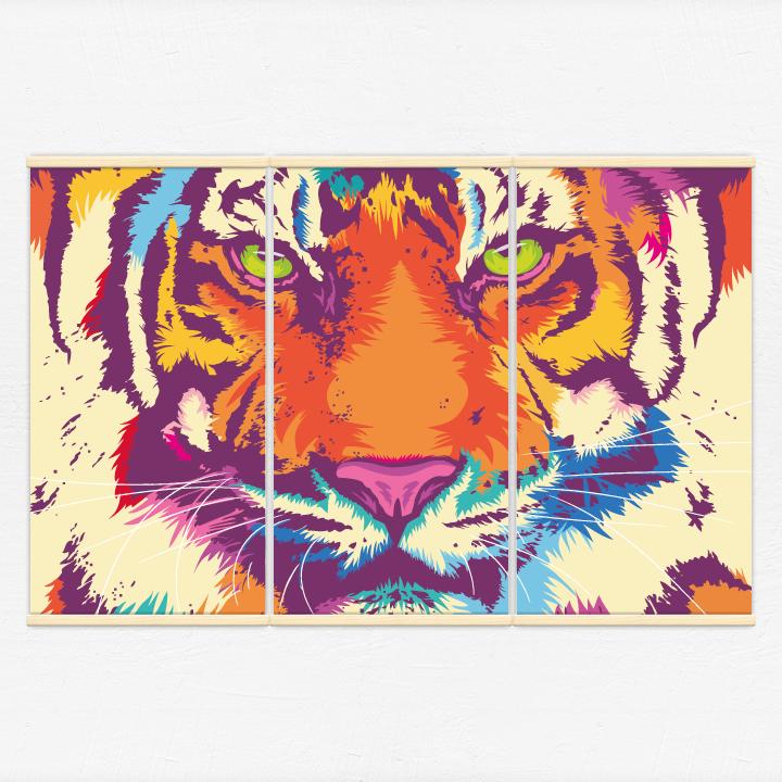 Kakémonos décoratifs avec l'illustration Rainbow tiger