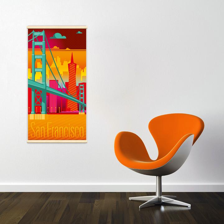 Décoration intérieure avec le kakémono décoratif San Francisco electro