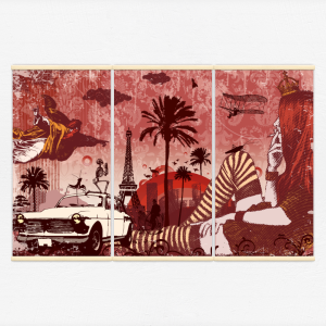 Kakémonos décoratifs avec l'illustration Rêve fantastique