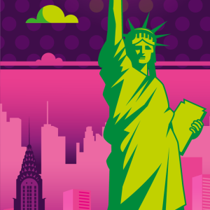 Zoom sur l'illustration New York electro