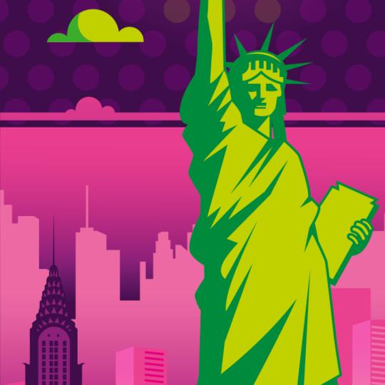 Zoom sur l'illustration New York electro