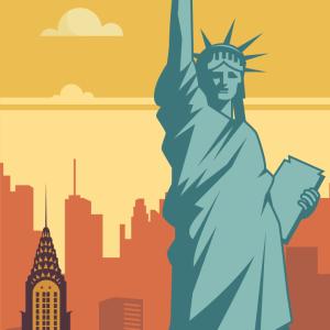 Zoom sur l'illustration New York rétro