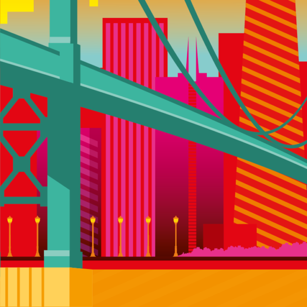 Zoom sur l'illustration San Francisco electro