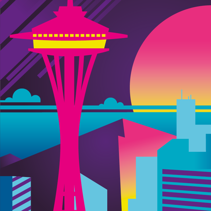 Zoom sur l'illustration Seattle electro