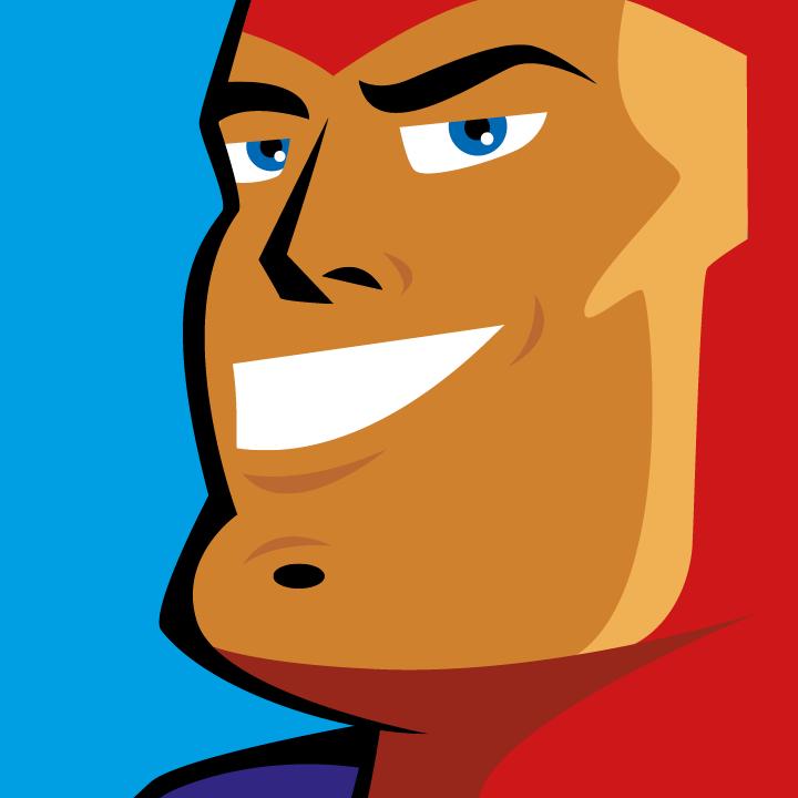 Zoom sur l'illustration Super-héros