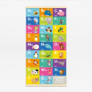 Kakémono décoratif avec l'illustration Alphabet rigolo