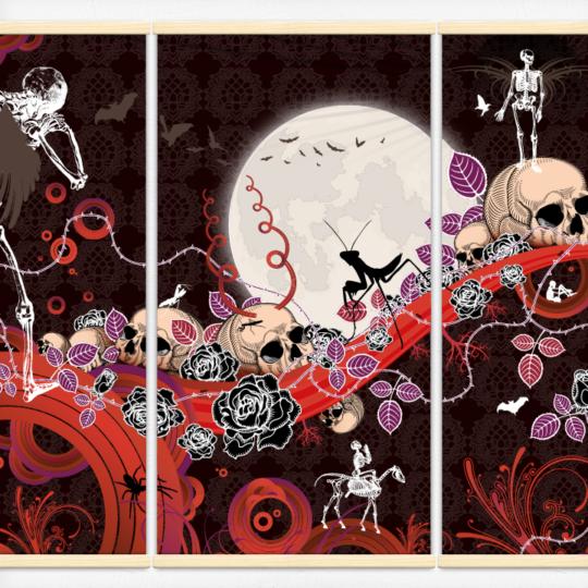 Kakémonos décoratifs avec l'illustration Le passage