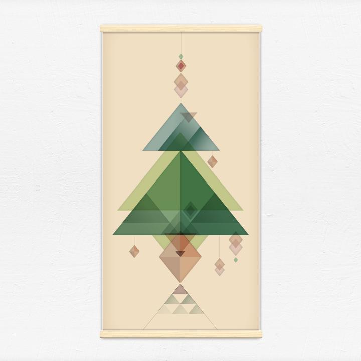 Kakémono décoratif avec l'illustration Sapin de Noël