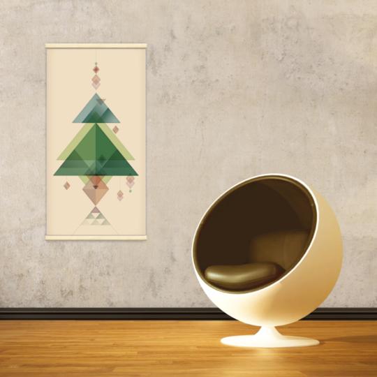 Décoration intérieure avec le kakémono décoratif Sapin de Noël