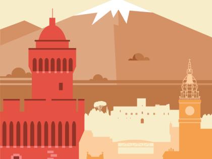 Nouveauté : un kakémono aux couleurs Catalanes