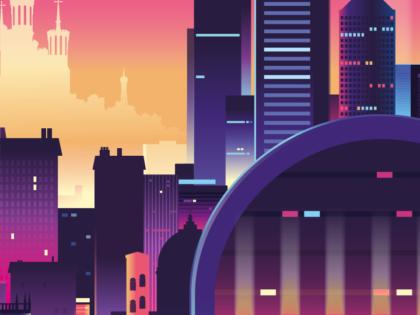 Lyon aux couleurs électriques