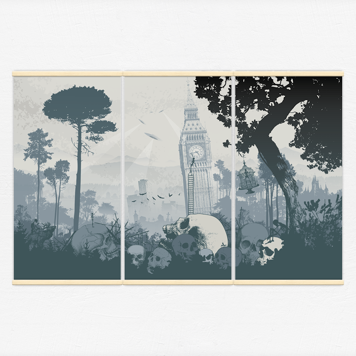 Kakémonos décoratifs avec l'illustration apocalypse