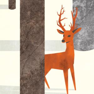 zoom sur l'illustration Forêt d'hiver