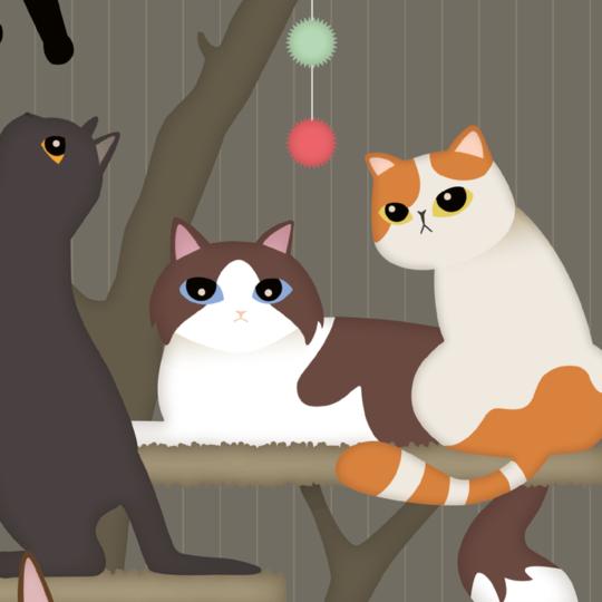zoom sur l'illustration Arbre à chat