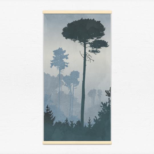 Kakémono décoratif avec l'illustration Paysage brumeux