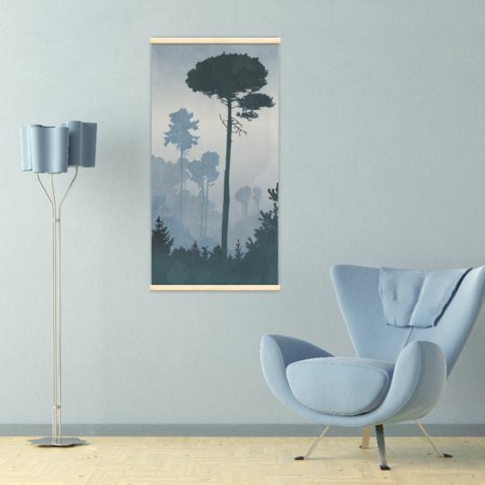Décoration intérieure avec le kakémono décoratif Paysage brumeux