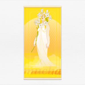 Kakémono décoratif avec l'illustration Lily Mucha