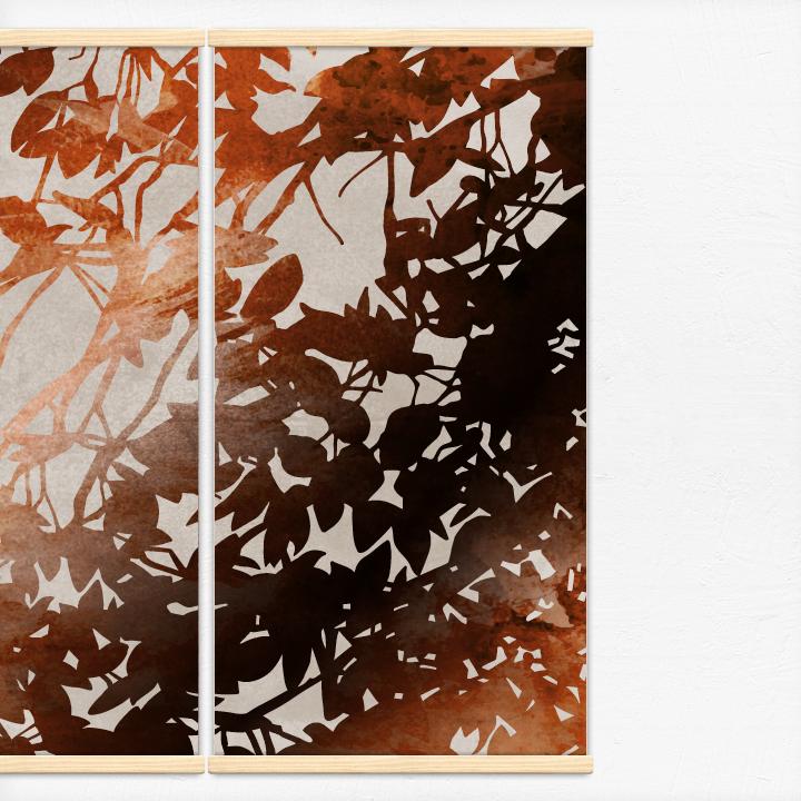 Kakémonos décoratifs avec l'illustration feuilles d'automne