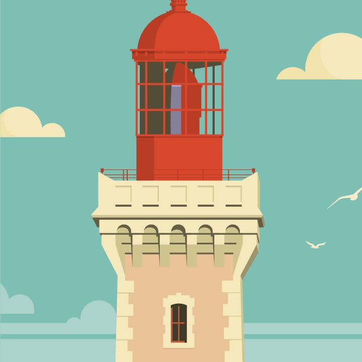 zoom sur l'illustration Cap Béar rétro