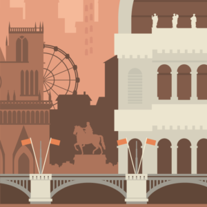 zoom sur l'illustration Lyon rétro