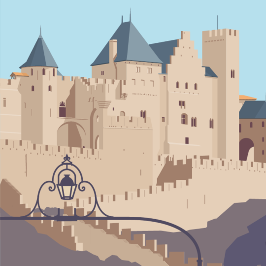 zoom sur l'illustration Carcassonne la cité