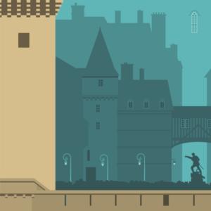zoom sur l'illustration Saint-Malo rétro