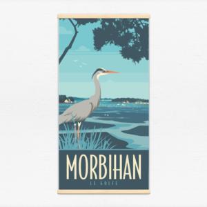 Kakémono décoratif avec l'illustration Morbihan le golfe