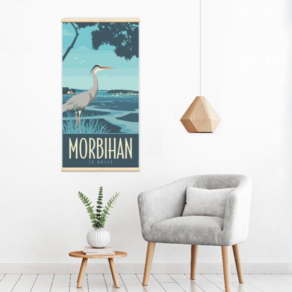 Décoration intérieure avec le kakémono décoratif Morbihan le golfe