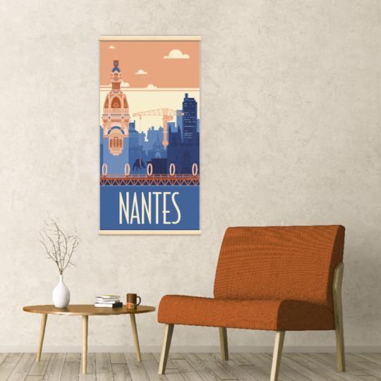 Décoration intérieure avec le kakémono décoratif Nantes rétro