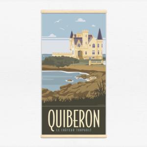 Kakémono décoratif avec l'illustration Quiberon le château