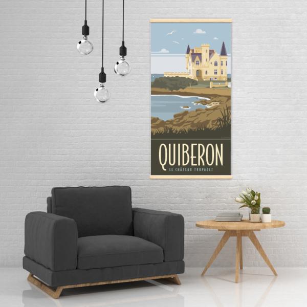 Décoration intérieure avec le kakémono décoratif Quiberon le château