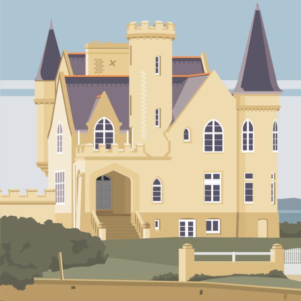 zoom sur l'illustration Quiberon le château