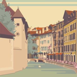 zoom sur l'illustration Annecy La Vieille Ville