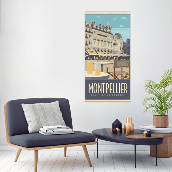 Décoration intérieure avec le kakémono décoratif Montpellier