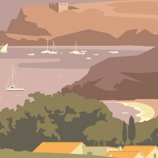 Zoom sur l'illustration Baie de Paulilles
