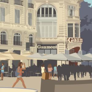 Zoom sur l'illustration Montpellier Comédie