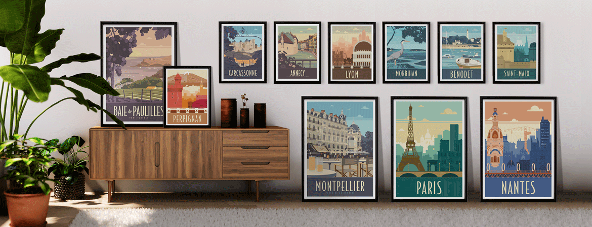 Décor avec la collection d'affiche Travel Poster by Direct Graphic