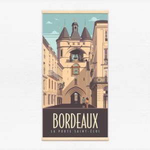 Kakémono décoratif avec l'illustration Bordeaux Saint-Éloi