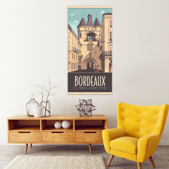 Décoration intérieure avec le kakémono décoratif Bordeaux porte Saint-Éloi