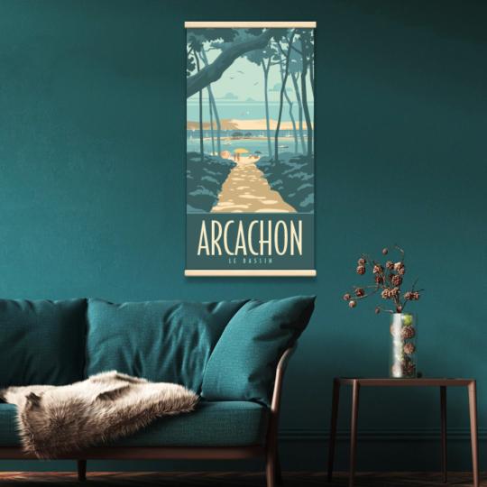 Décor avec le kakémono Arcachon le Bassin