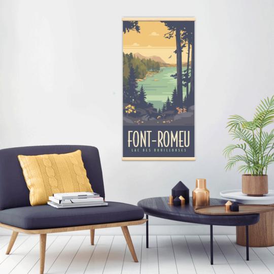 Décoration intérieure avec le kakémono décoratif Font-Romeu- Bouillouses