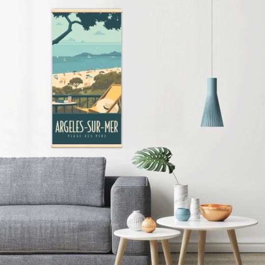 Décoration intérieure avec le kakémono décoratif Argeles-plage-des-pins